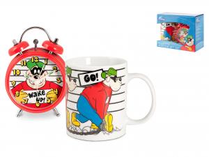 Confezione Sveglia/mug Porcellana Disney Bassot
