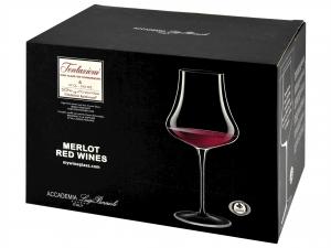 Confezione 6 Calici In Vetro Tentazioni Vino Rosso
