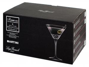 Bormioli Luigi Roma1960 Confezione 6 Calici Martini, Vetro,