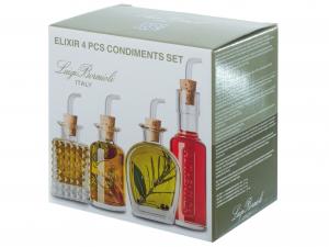 Set 4 Pezzi In Vetro Elixir Condimenti