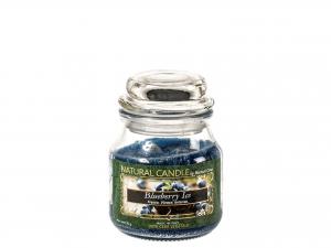 Nature Candle Candela Profumata Blueberry, 100% Cera Vegetal