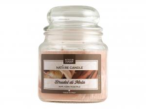 Nature Candle Candela Profumata Strudel Mela, 100% Cera Vege