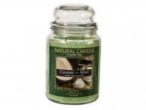 Nature Candle Candela Profumata Coconut&mint, 100% Cera Vege