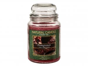Nature Candle Candela Profumata Pomegranate, 100% Cera Veget