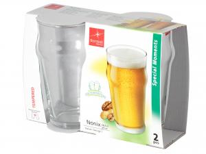 Confezione 2 Bicchieri In Vetro Nonix Birra Cl58
