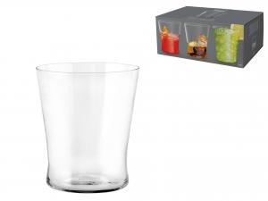 Confezione 6 Bicchieri In Vetro Conica Cc250