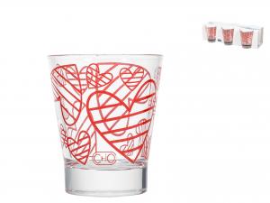 Confezione 6 Bicchieri Vetro Dec Joy Liq Cl8,5