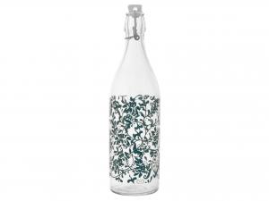 Bottiglia In Vetro Decoro Grace Verde Lt1