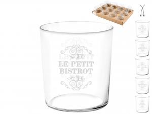 Vassoio 12 Bicchieri In Vetro Starck Parigin 350