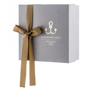 Set caffè 4 pezzi in Giftbox | Striche Nere e Oro