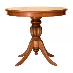 Table ronde plateau fixe 90 cm