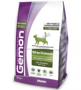 Gemon Cat - Sterilizzato - Tacchino - 1.5 kg