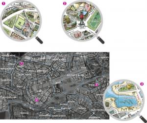 Heye 29844-Map Art City of Pop puzzle 2000 pz