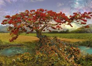 Heye 29909  Enigma Trees puzzle 1000 pz Strontium Tree