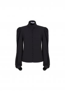 Camicia nera con bottoni davanti di Maria Vittoria Paolillo