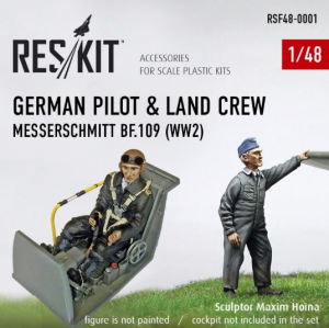 German pilot & land crew