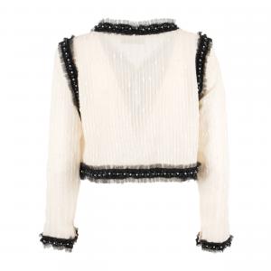 Giacca  bianca con fiocchi davanti neri di ODI' ODI'