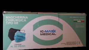 MASCHERINA 3VELI BOX 50 PEZZI AZZURRE MENTA IG MASK