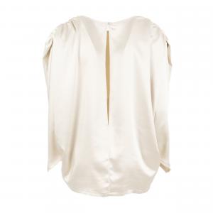 Blusa color latte con maniche a sbuffo di ODI' ODI'
