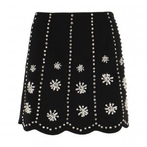 Minigonna nera con swarovski e perle di ODI' ODI'