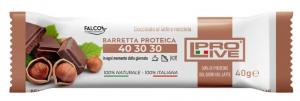 Barretta Proteica 40-30-30 Cioccolato al Latte e Nocciola