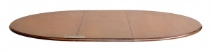 Runder Tisch 'Stub' - ausziehbar - Naturholzfarbige Tischplatte