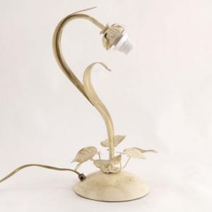 Lumetto a 1 luce, montatura avorio stile fiorentino