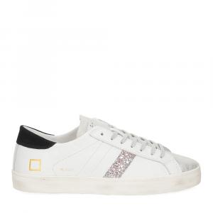 D.A.T.E. Hill Low calf white black glitter-2