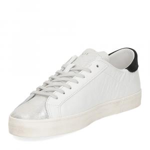 D.A.T.E. Hill Low calf white black glitter-4