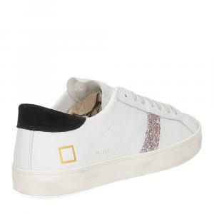 D.A.T.E. Hill Low calf white black glitter-5