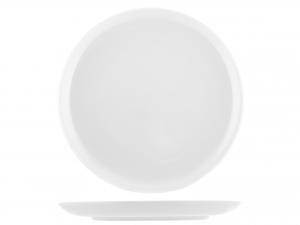 Piatto In Porcellana Oslo Bianco Tondo Cm32