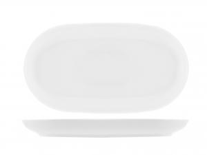 Piatto In Porcellana Oslo Bianco Ovale Cm22