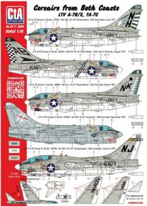 CORSAIRS FROM BOTH COASTS L.T.V. A-7B/E & TA-7C