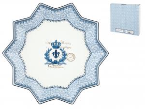 H&h Piatto Porcellana Blue Dream Stella 32cm