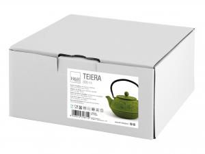 H&h Teiera In Ghisa E Smalto, Verde, Lt 0,80, Con Filtro
