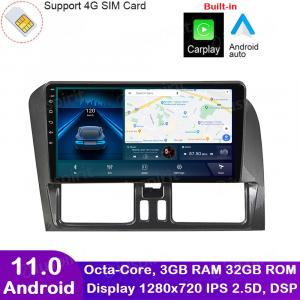 ANDROID autoradio navigatore per Volvo XC60 2014-2017 CarPlay Android Auto GPS USB WI-FI Bluetooth 4G LTE