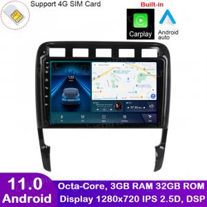 ANDROID autoradio navigatore per Porsche Cayenne 2003-2010 CarPlay Android Auto GPS USB WI-FI Bluetooth 4G LTE
