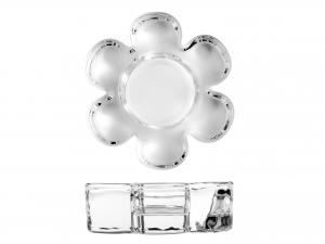 Porta Tealight In Vetro, 10 Cm, Trasparente