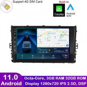 ANDROID autoradio navigatore per VW Polo Passat Jetta Golf Sportvan Alltrack 2018-2020 CarPlay Android Auto GPS USB WI-FI Bluetooth 4G LTE