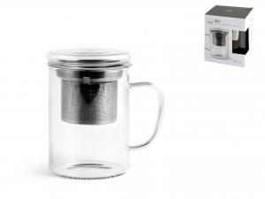 H&h Mug In In Borosilicato Con Filtro In Acciaio Inxo 18/10,