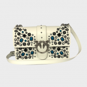 SHOPPING ON LINE PINKO CLASSIC LOVE BAG ICON ETHNIC STUDS NEW COLLECTION WOMEN'S SPRING SUMMER 2021-2
