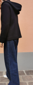 Giacca in lana con cappuccio