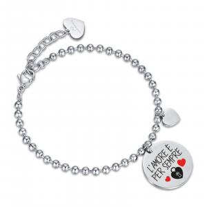 Luca Barra - Bracciale in acciaio l'amore è per sempre