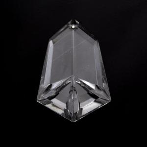 Pendente placca a punta in cristallo molato 75 mm.