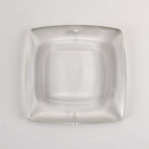 Placca pendente quadrata cristallo Boemia 10 cm. Con fori.