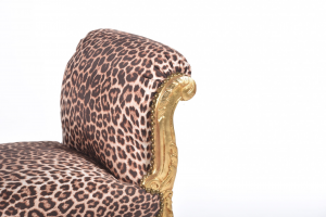 Divanetto Oro Tessuto Leopardato