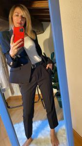 Pantalone a sigaretta Nero Vicolo