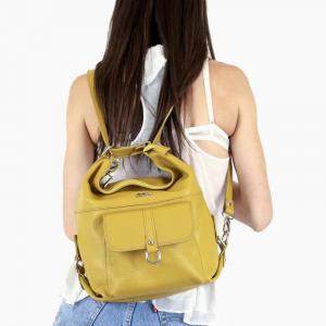 Sac pour femme convertible en sac à dos | Cuir italien véritable