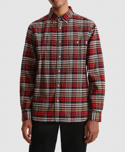 Camicia uomo WOOLRICH CECK TRADITIONAL IN FLANELLA RED