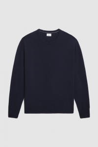 Maglione uomo WOOLRICH IN LANA SUPERGEELONG MELTON BLUE